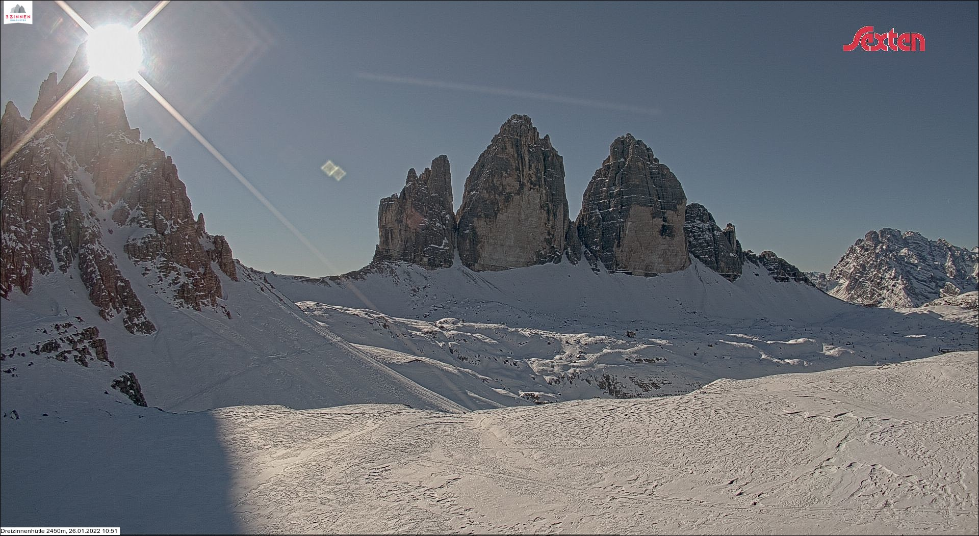 Live-Webcam Tre Cime