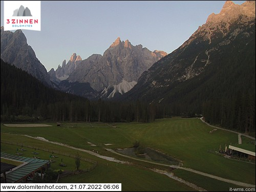 Webcam con vista in Val Fiscalina